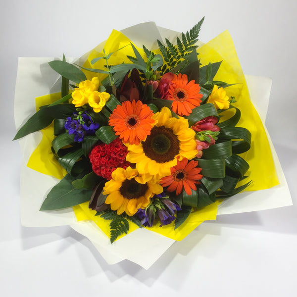 Sunflowers, Gerberas and Celosia Flowers from Wellington