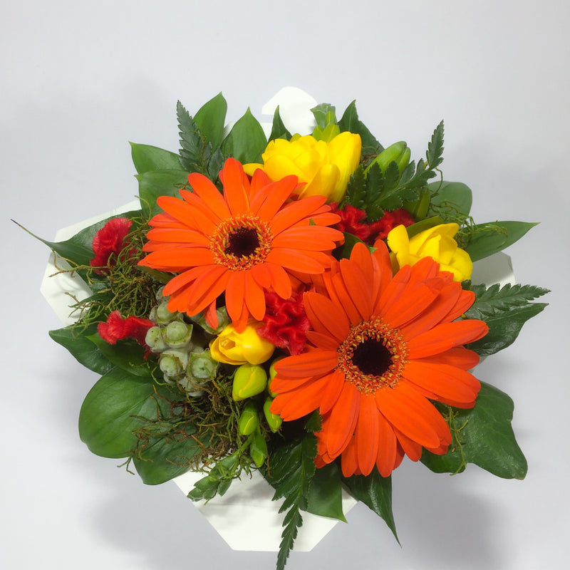 Birthday flowers including gerberas