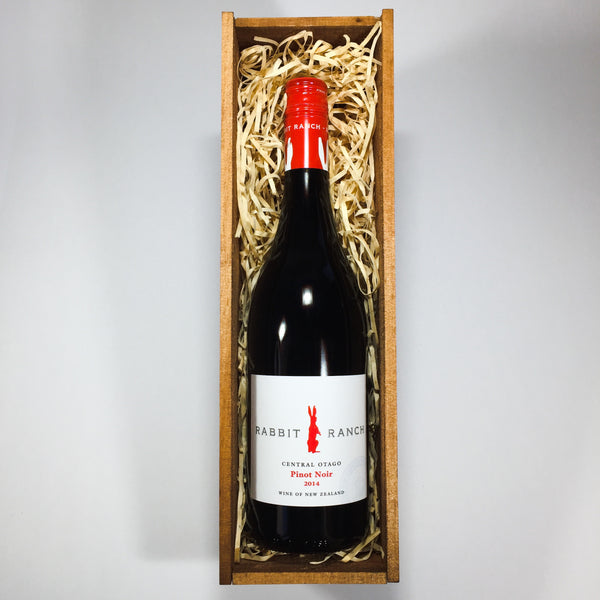 Rabbit Ranch Pinot Noir presented from Wellington in a gift basket
