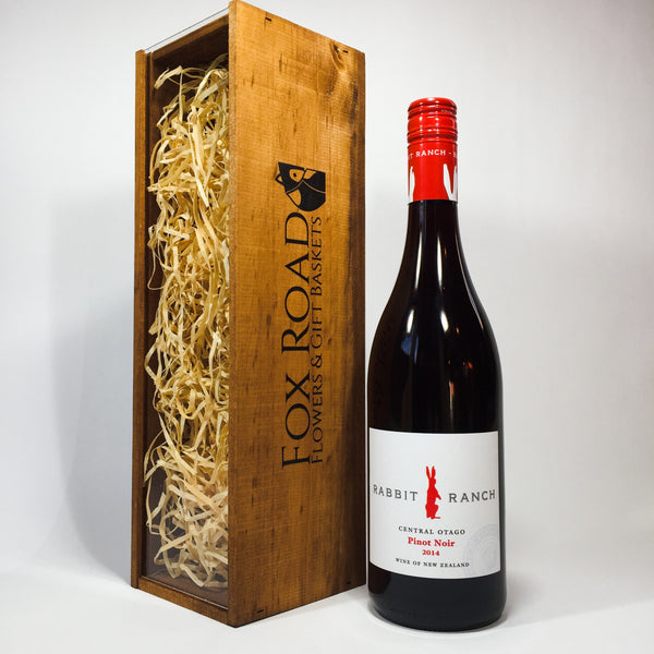 Rabbit Ranch Pinot Noir and Wooden Crate