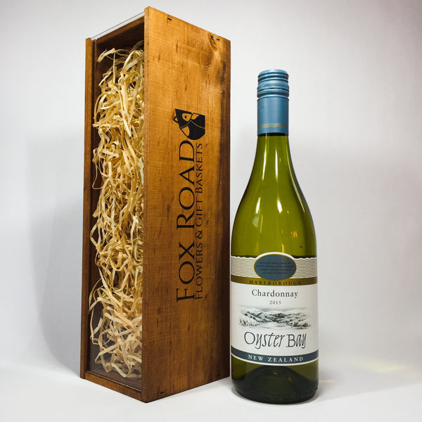 Father's Day wine with a wooden box