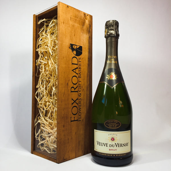 Sparkling Wine gift in a Wooden Box