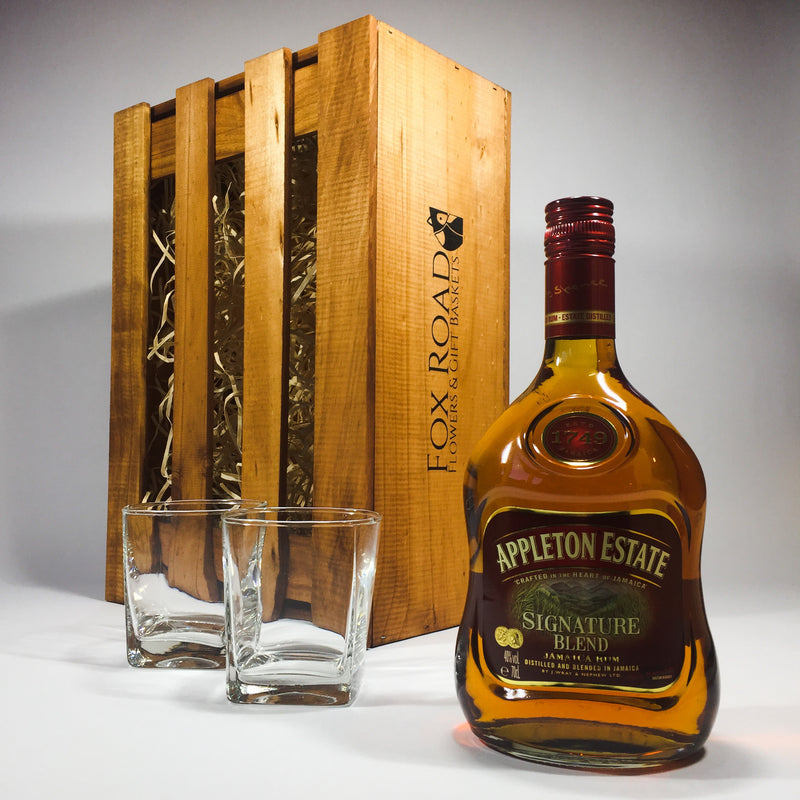 Appleton Estate Rum Wooden Crate Gift Box