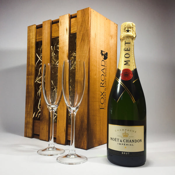Moet champagne Christmas gift