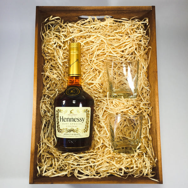 Groomsman gift with Hennessy Cognac