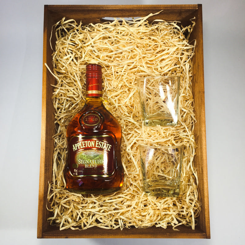 Rum gift for groomsman with Appleton Estate rum
