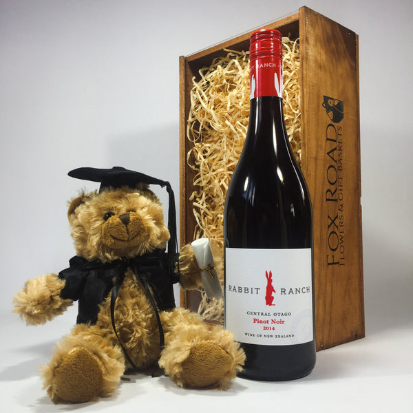 Rabbit Ranch Pinot Noir with Graduation Bear
