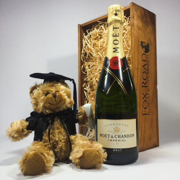 Moët and graduation bear gift
