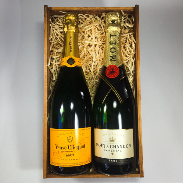 Veuve Clicquot and Moet champagne thank you gift