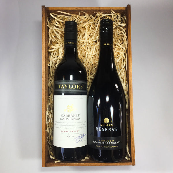 Two wines thank you gift basket