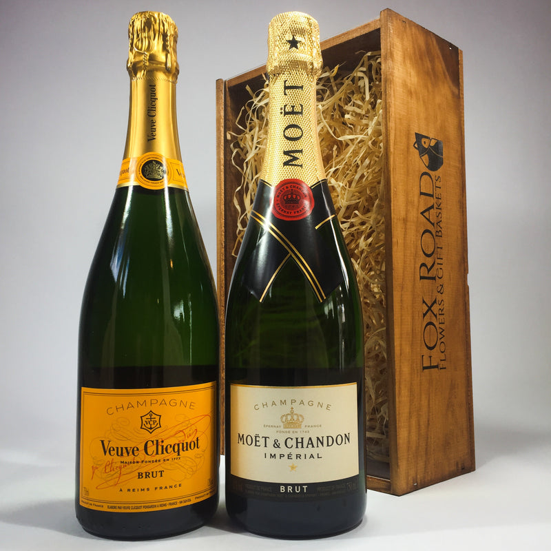 Veuve Clicquot and Moet champagne corporate gift