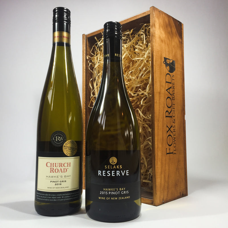 Pinot Gris Wine Wooden Box Church Road Selaks Reserve White