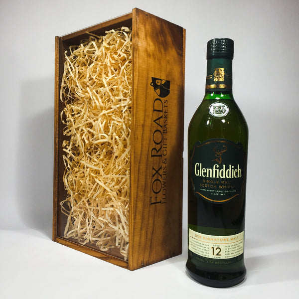 Glenfiddich Whisky in wooden gift box for husband