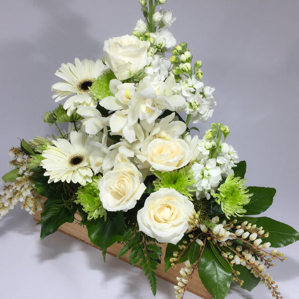 White delight filled with Wellington flowers