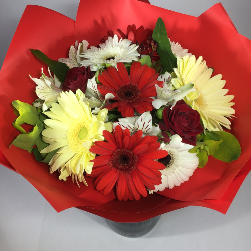 Flowers in vase available for delivery