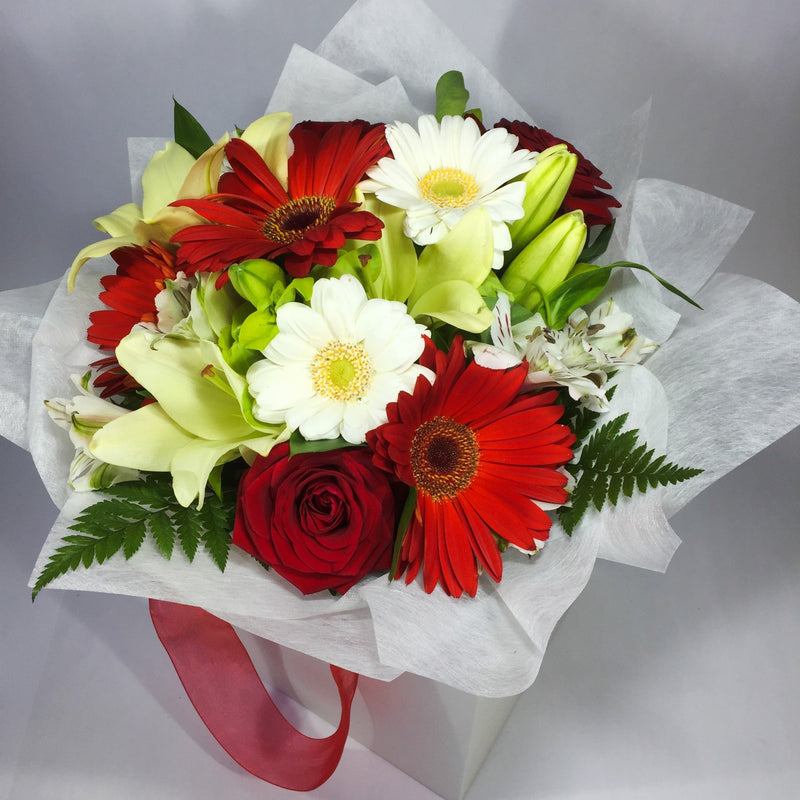 Stunning flowers in a gift box