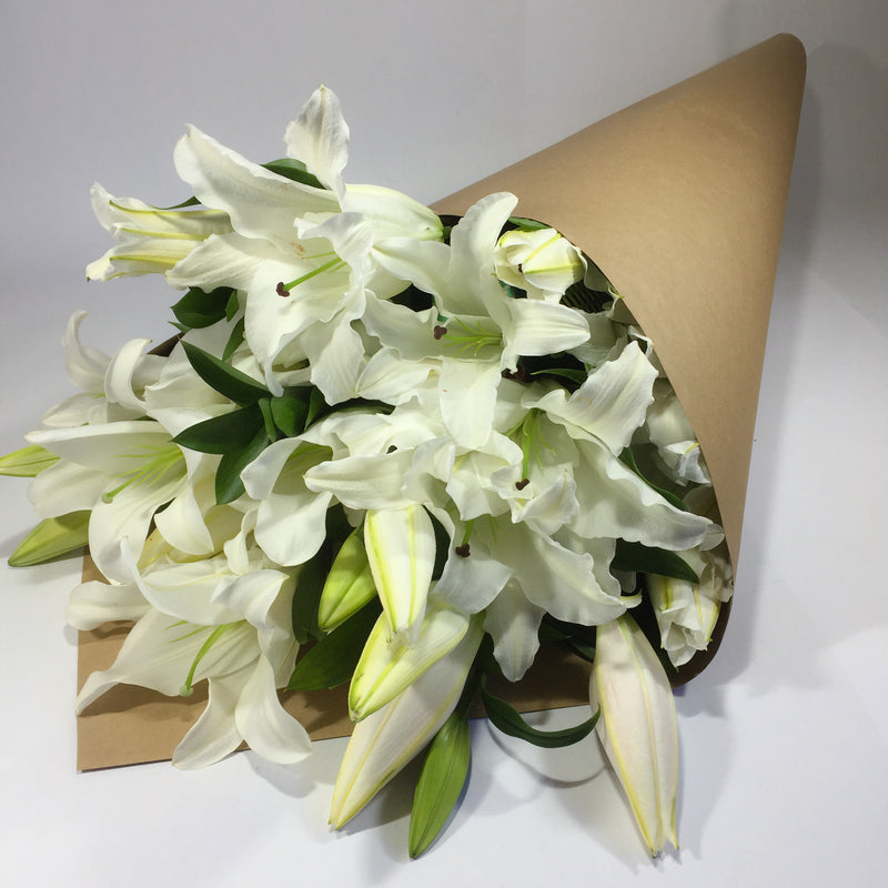Sympathy lilies for recent bereavement flowers
