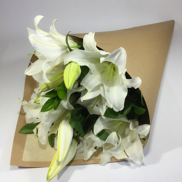 Lily stems prepared by Lower Hutt florist