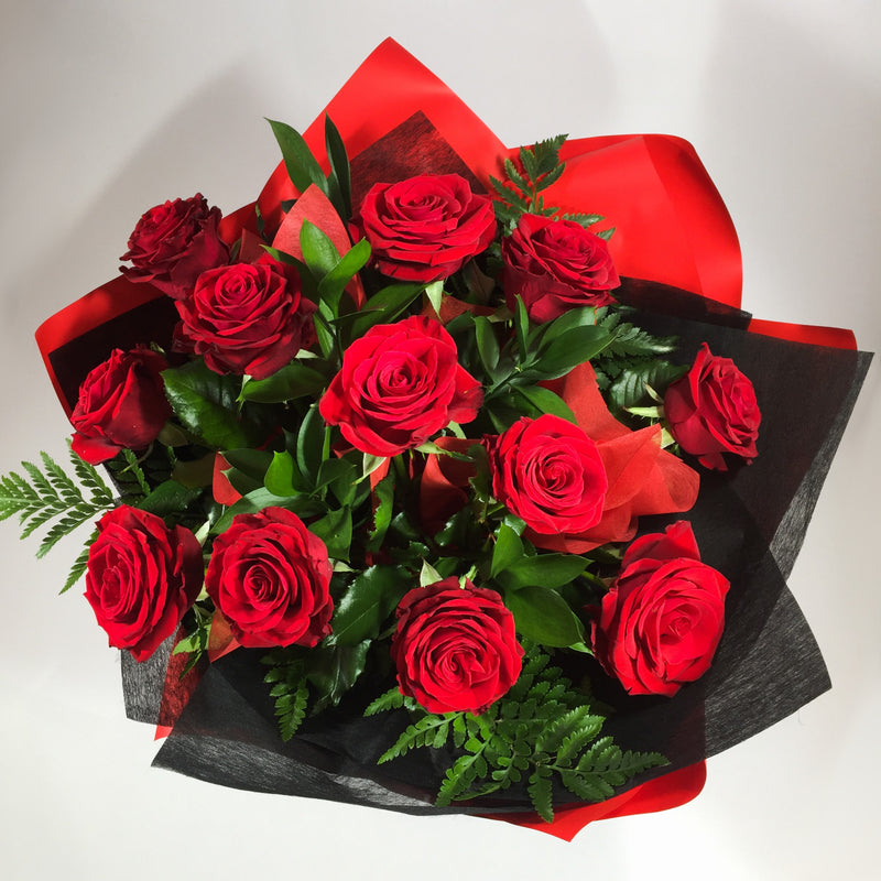 12 dozen red roses for Wellington and Porirua