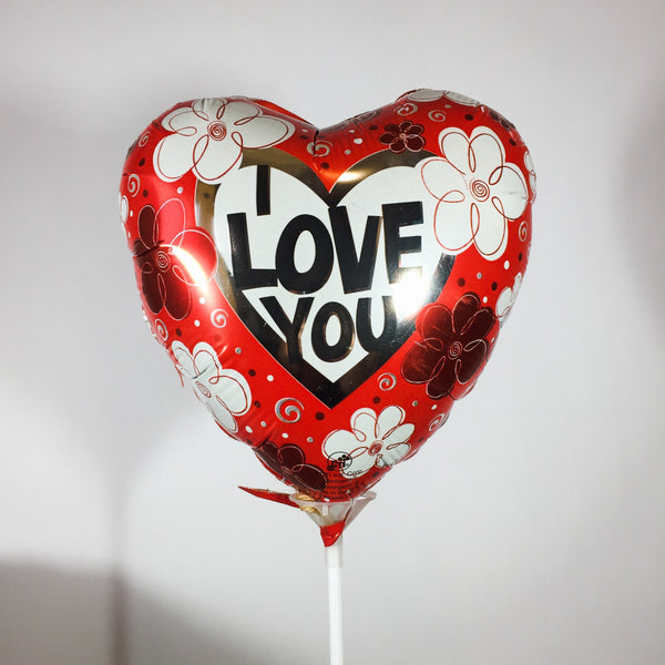 Love you stick balloon for flowers
