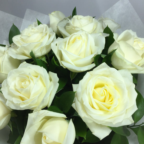 White Roses made to order for Wellington flower delivery