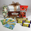 Lotto gift basket with pamper soaps and maltesers