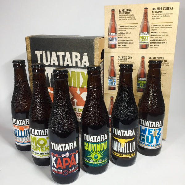 Tuatara beers with information sheet