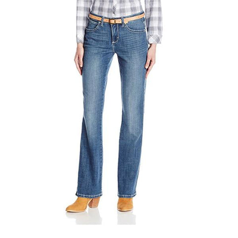 Wrangler Aura Instantly Slimming Mid Rise Boot Cut Jean - WUT74KD