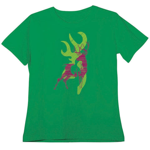 Browning Women's Buckmark Kelly Green Classic Fit T-Shirt