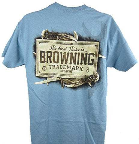 Browning Men's Buckmark Firearms Leather Patch Buckmark T-Shirt