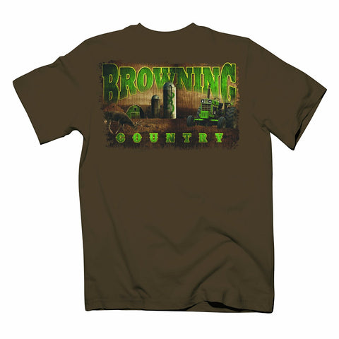 Browning Men's Short Sleeve Buckmark T-Shirt Chestnut Brown