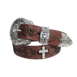 Nocona Women's Fancy Embroidered Leather Belt - N3497002