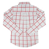 Wrangler George Strait For Her Peach/White Checkered Long Sleeve Shirt - LGS7219