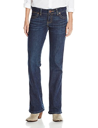 Wrangler Women's Mae Premium Patch Sits Above Hip with Back Pocket Jean - 09MWZDD