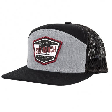 STS Black & Grey Home Grown Bulls Label Cap - STS4168HGBK