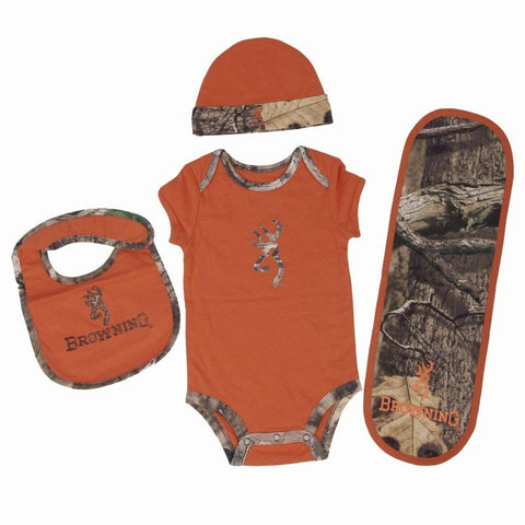Browning Baby's Buckmark Camo 4 Piece Set (2 Colors)