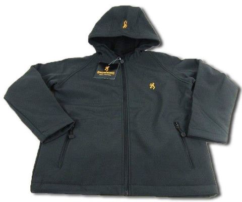 Browning Kid's Cimarron Softshell Hoodie Jacket - BRI8007.099