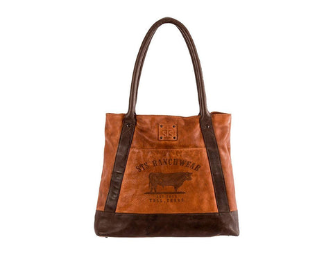 Sts Ranch Wear Womens STS Ranchwear Leather Tote Brown