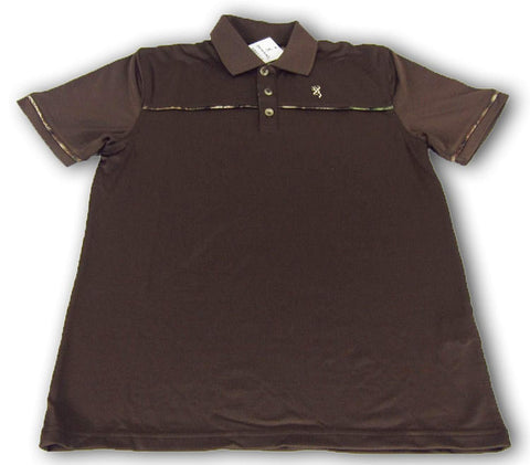Browning Youth Boys Performance Ozark Short Sleeve Polo Chestnut Brown