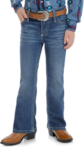 Wrangler Retro Girls' Bootcut Jeans with Stitch Pocket