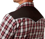 Roper Western Shirt Men Long Sleeve Plaid Snap Red 01-001-0024-0577