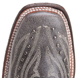 Corral Kids Black Embroidery Studs Western Boot E1199