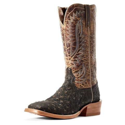 ARIAT Men's Showman Full Quill Ostrich Western Boot, Dusted Wheat