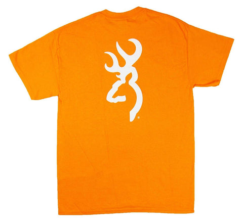 Browning Tennessee Orange White Buckmark Tee Short Sleeve T-Shirt