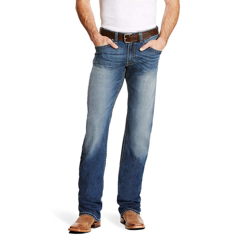 ARIAT Men's M5 Slim Chapman Tekstretch Stackable Straight Leg Jean