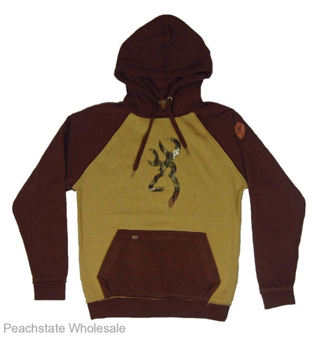 Browning Men's Buckmark Mossy Oak Camo Connor Hoodie Sweatshirt - BRI010013