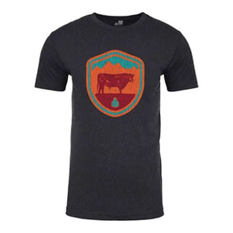 STS Ranchwear Men's Arizona Crest Tee (Charcoal) STS6210CHR