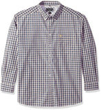 Ariat Men's Classic Fit Long Sleeve Button Down Shirt, Vahl White