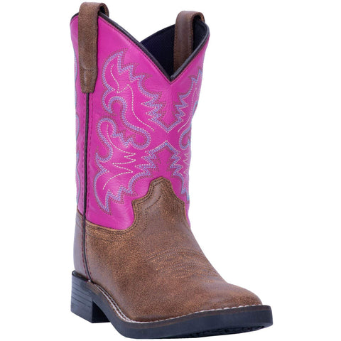 Kid's Punky Western Boot Wide Square Toe