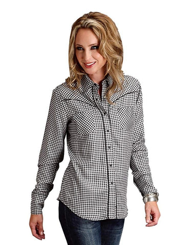 Stetson Western Shirt Womens Long Sleeve Black 11-050-0597-0546 BL